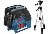 Комбинированный лазерный уровень Bosch GCL 25 + штатив BS 150