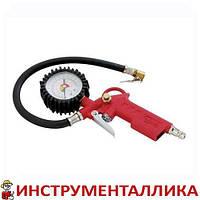Пистолет для подкачки колес с манометром 63 мм пневматический PT-0504 Intertool