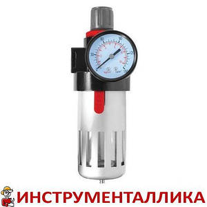 """Фильтр очистки воздуха + редуктор в металле 1/2"""" PT-1410 Intertool"""