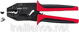 Обжимной инструмент для неизолированных кабельных наконечников с закрытой гильзой Wiha 33843