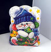 Упаковка праздничная новогодняя из картона Мышонок, до 400г, от 1 ящика