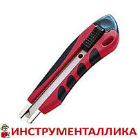 Нож с отложным лезвием 18 мм противоскользящий корпус дробилка HT-0506 Intertool