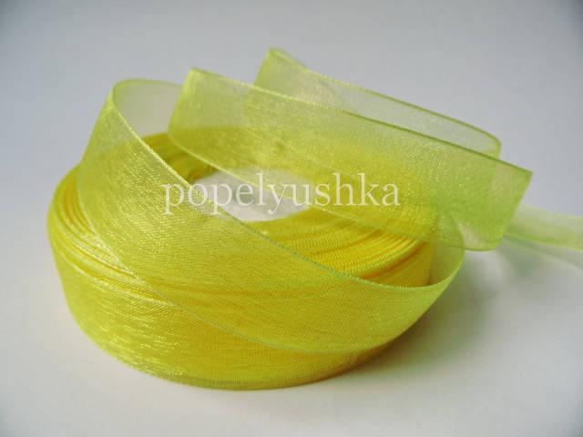 Стрічка органза 2 см жовта