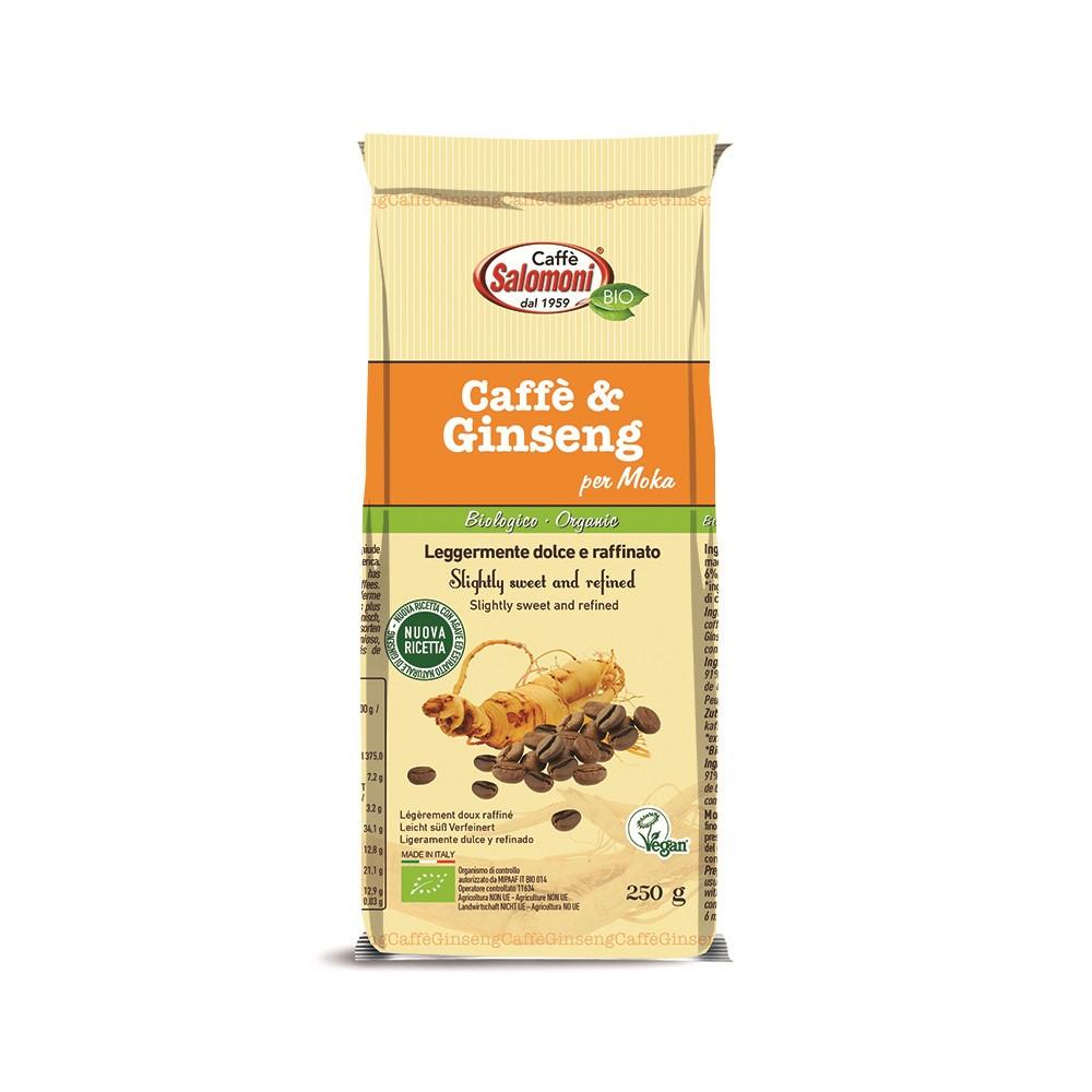 Кофе с женьшенем (молотый) органический Salomoni,250г