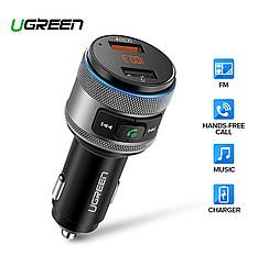 UGREEN ED029 FM-трансмиттер модулятор USB автомобильное зарядное устройство Быстрая зарядка QC3.0