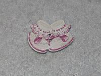 Пуговица  Пинетки розовые  600-69 поштучно, фото 1