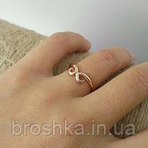 Тонкое позолоченное кольцо бижутерия без камней, фото 3