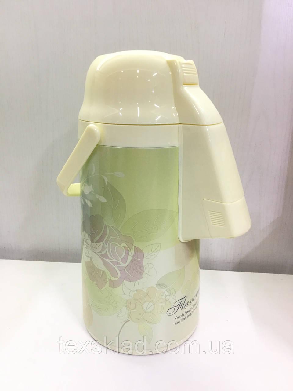 Термос помповый вакуумный со стеклянной колбой (3.0 литра)