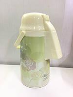 Термос помповый вакуумный со стеклянной колбой (3.0 литра), фото 1
