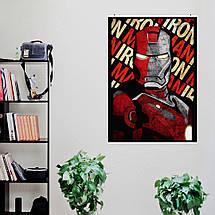 """Постер """"Железный Человек / Iron Man"""", минималистичный арт, Marvel. Размер 60x42см (A2). Глянцевая бумага, фото 3"""