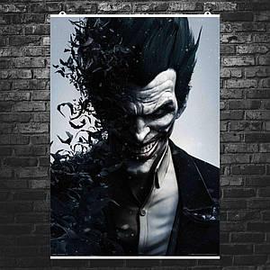 "Постер ""Джокер и летучие мыши"". Joker, Arkham. Размер 60x42см (A2). Глянцевая бумага"