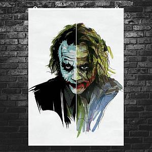 """Постер """"Джокер: две половины"""". Joker. Размер 60x42см (A2). Глянцевая бумага"""