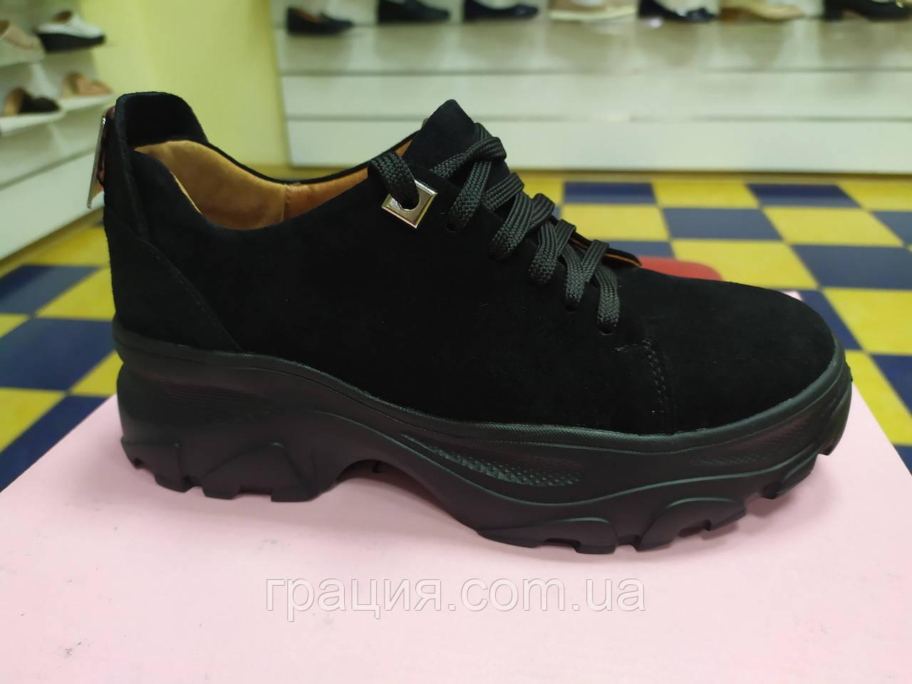 Модные женские кроссовки натуральная замша