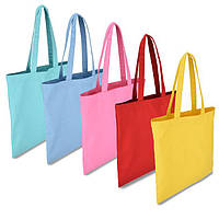 Эко-сумки из хлопка цветные