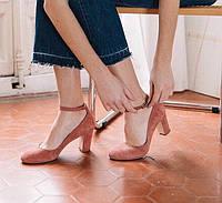 Женские замшевые туфли на среднем каблучке Minelli Португалия 36р