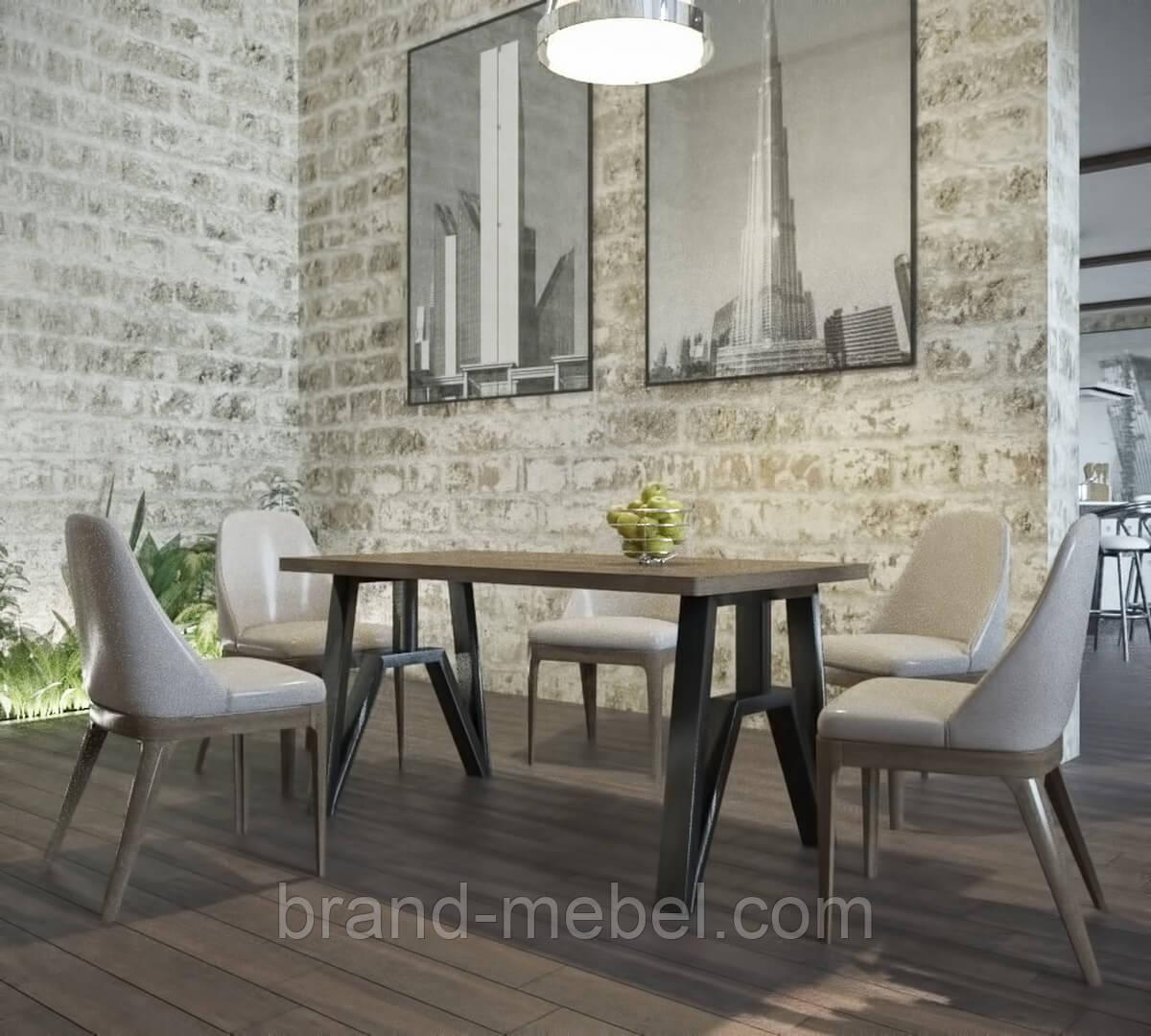 Стіл обідній Прайм (стол обеденный) в стилі Лофт Loft