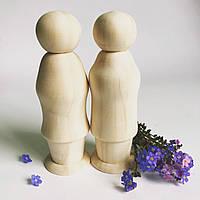 Заготовка дерев'яної ляльки.  № 4 Парочка .4*12,5 см