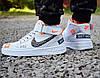 "Кроссовки Nike Air Force 1 high ""just do it"" мужские в белом цвете М0134"