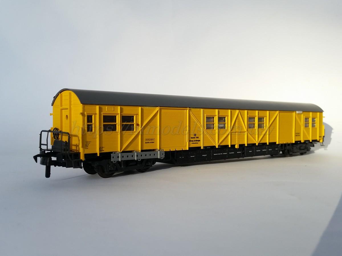 Roco 4х осный рузовой вагон ,DB, желтый  1:87