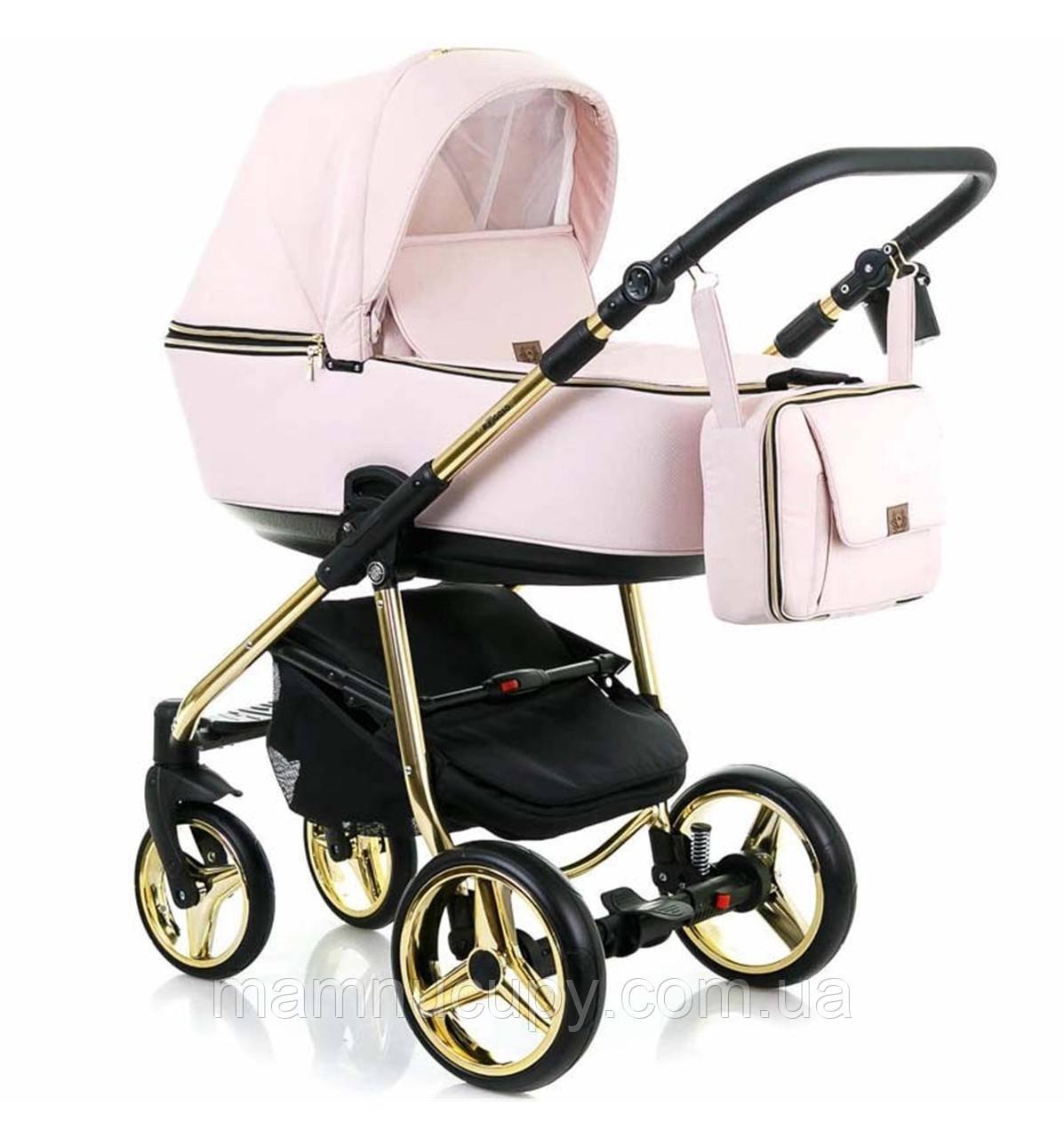 Детская универсальная коляска 2 в 1 Adamex Reggio Limited Chrom Y813 (адамекс реджио хром)