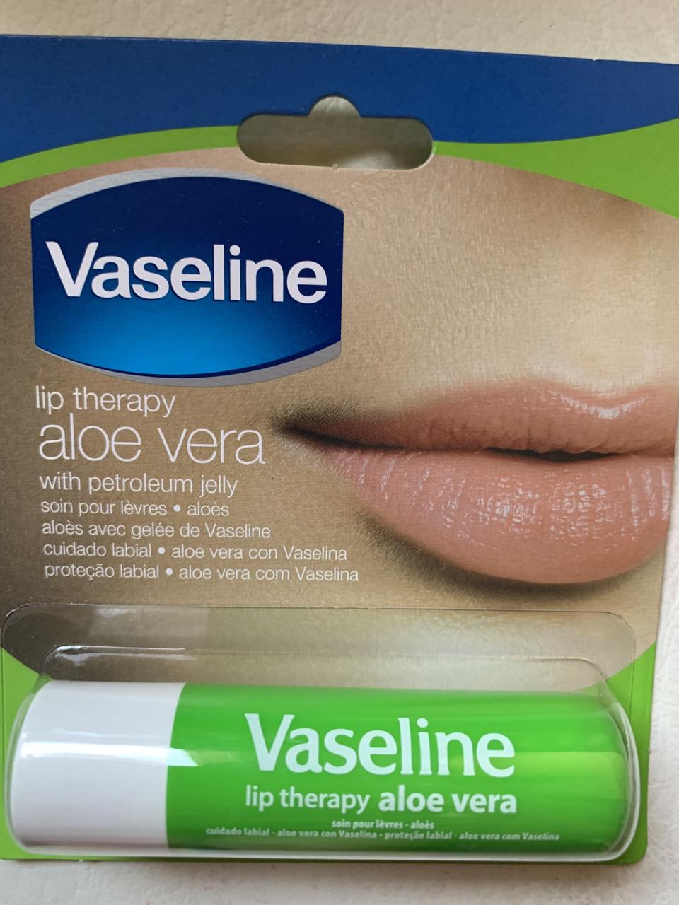 Вазелин бальзам для губ Vaseline lip therapy Aloe Vera