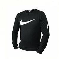 Толстовка мужская черная Nike, свитшот мужской черный Найк