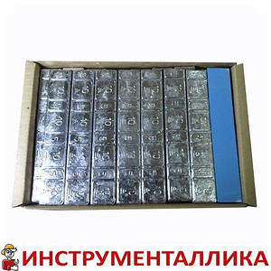 Груз самоклеящийся низкий 4 х 10 + 4 х 5 г свинец голубая лента Украина
