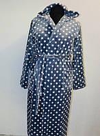 Махровый длинный халат женский ткань ультра софт