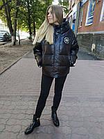 Куртка-пуховик зима черная CLASNA 125
