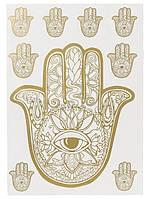 Наклейка настенная золотистая Melinera - 50*70см