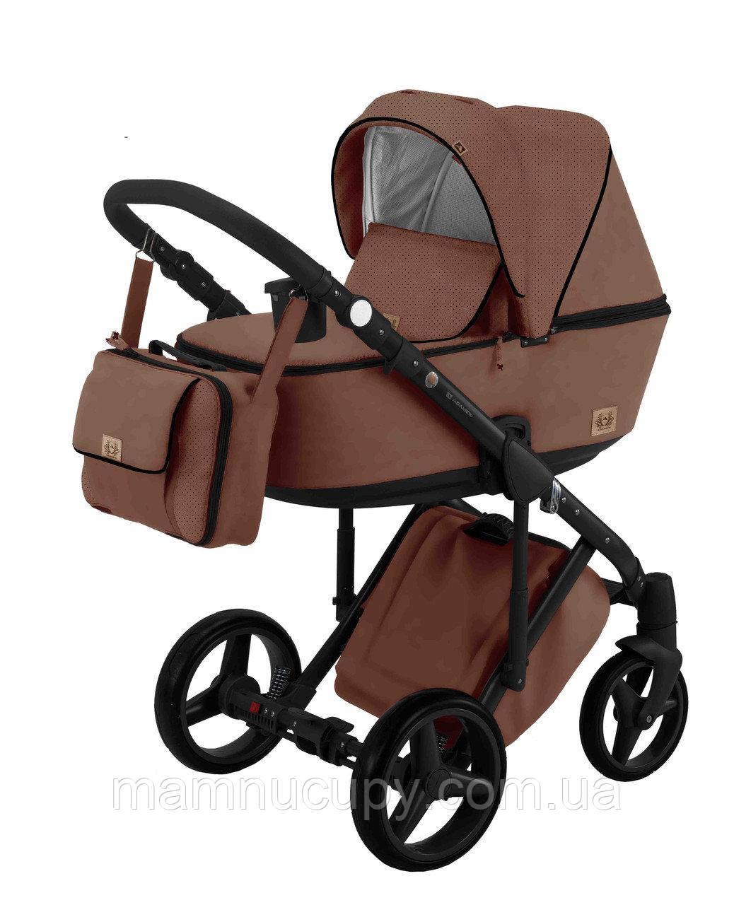 Детская универсальная коляска 2 в 1 Adamex Riccio кожа Y210 (адамекс ричио)
