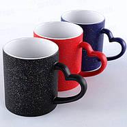 Чашка сублимационная LOVE матовая с блестками СИНЯЯ, фото 3