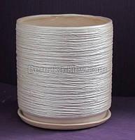 Горшок керамический цилиндр цвет серебро