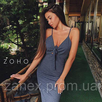 Платье летнее в рубчик Zanex, серое, фото 2