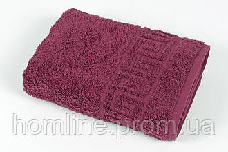 Полотенце махровое Iris Home Бордюр beaujolais бордовый 50*90