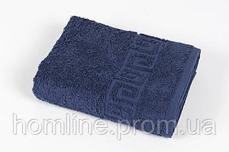 Полотенце махровое Iris Home Бордюр lacivert синий 50*90