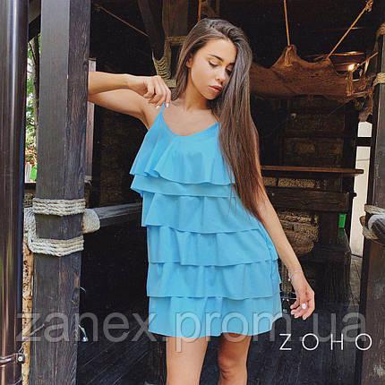 Платье Zanex «Елка», голубое, фото 2