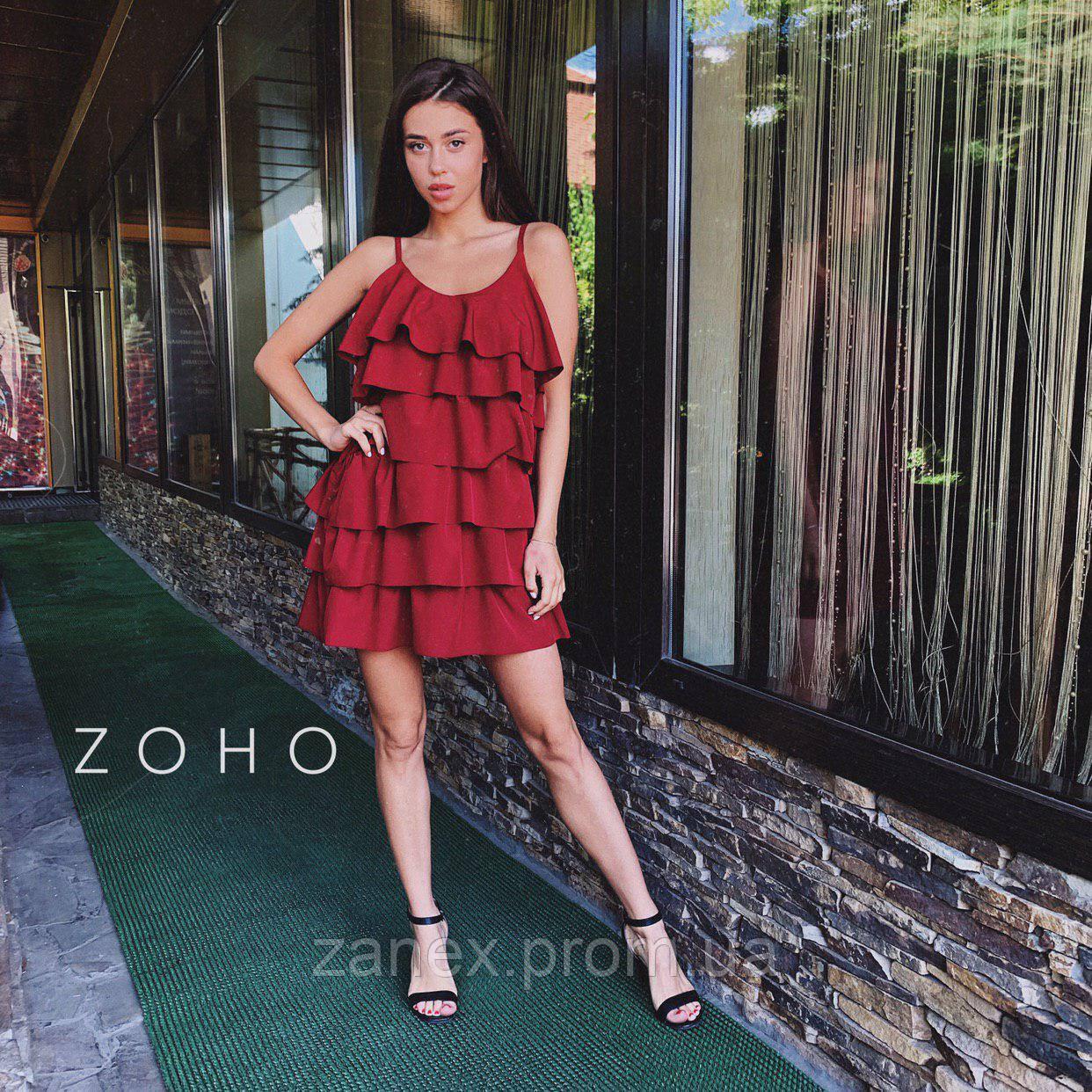 Платье Zanex «Елка», бордовое