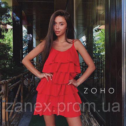 Платье Zanex «Елка», красное, фото 2