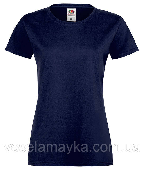 Темно-синяя женская футболка (Премиум)