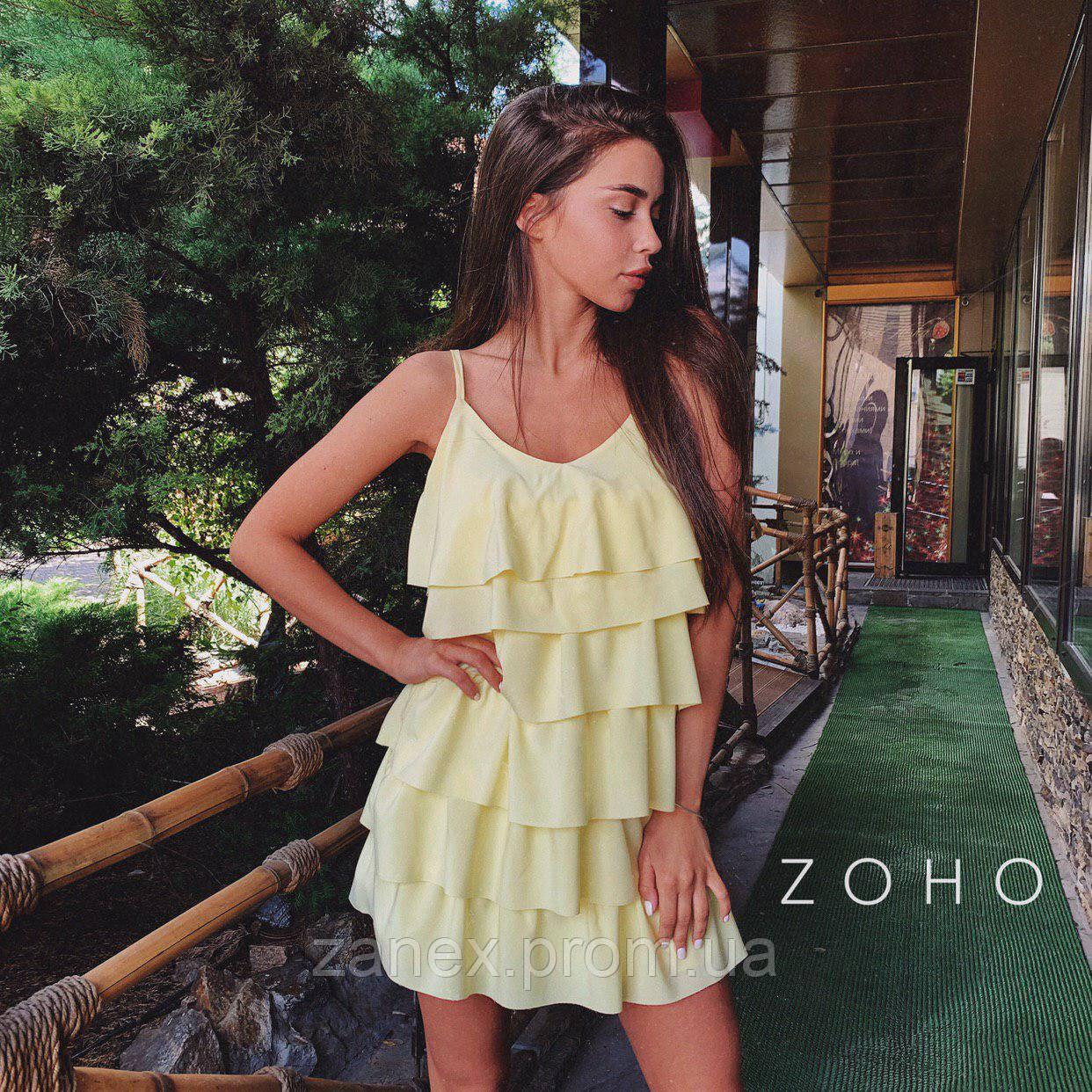 Платье Zanex «Елка», желтое