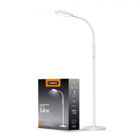 LED торшер напольный Videx VL-TF07W 14W 3000-5500K white