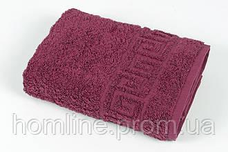 Полотенце махровое Iris Home Бордюр beaujolais бордовый 70*140