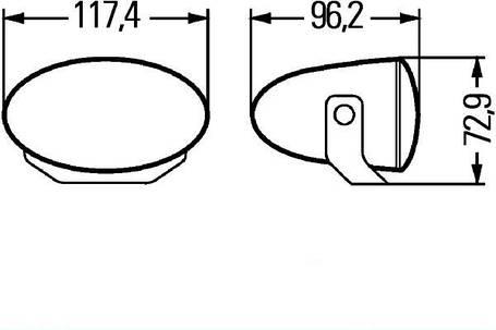Противотуманные фары Hella FF 50 1NA 008 283-801, фото 2