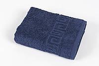 Полотенце махровое Iris Home Бордюр lacivert синий 70*140