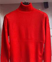 Гольф красный с высоким горлом Milano Zone кашемировые Милано и манжетами S \ M, фото 2