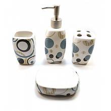 Белый керамический набор для ванной комнаты