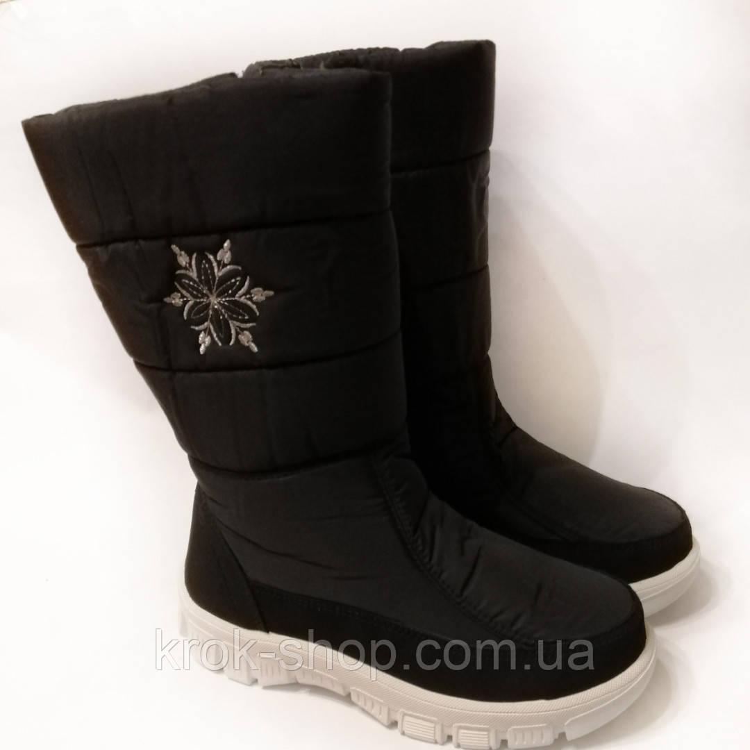 Ботинки женские зимние на молнии с вышивкой ТСА оптом