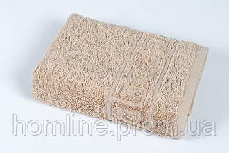 Полотенце махровое Iris Home Бордюр nougat бежевый 70*140