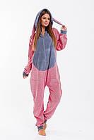 Кигуруми женское - цельная пижама с ушками 42-48